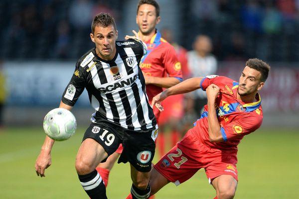 Angers SCO face au GFC Ajaccio le 12 septembre 2014