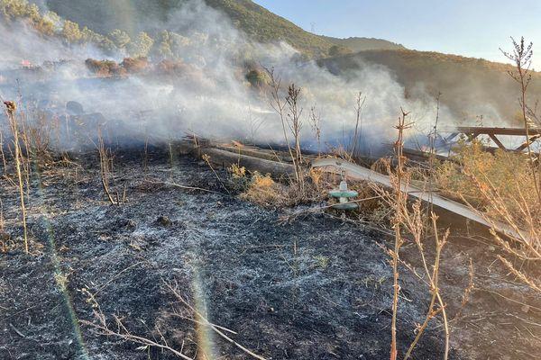 Des moyens ont été déployés sur place pour maîtriser cet incendie. IMAGES D'ARCHIVES.