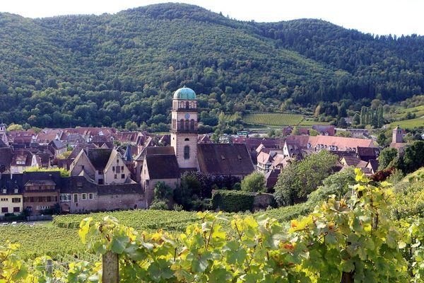 Sur la route des vins, le village de Kaysesberg.
