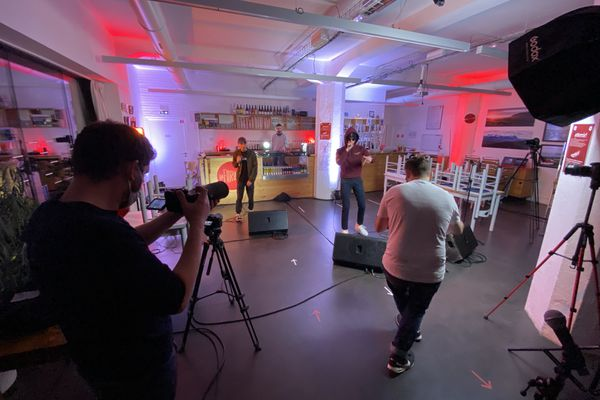 EDRF en tournage au Pixel, à Besançon.