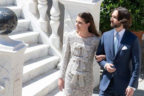 Charlotte Casiraghi et Dimitri Rassam sur la photo publiée sur le Facebook du Palais princier de Monaco samedi soir.