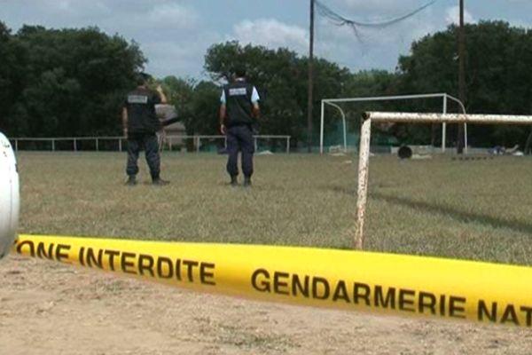 C'est sur ce terrain de sport, en marge de la fête votive de Beaulieu, qu'est mort Gaëtan Boils.