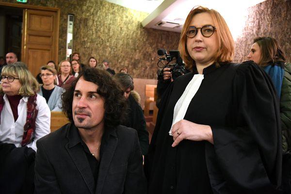Olivier Savignac, en tant que partie civile, lors du procès de l'abbé Pierre de Castelet et André Fort, au tribunal correctionnel d'Orléans, le 22 novembre 2018