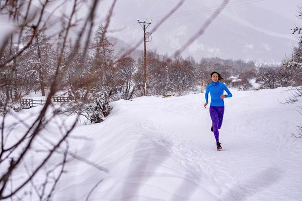 Pas facile de s'entraîner sur route en hiver quand on habite à Briançon. Du coup, Laurie Phaï a multiplié les trails sur neige à défaut de pouvoir se préparer spécifiquement au marathon.
