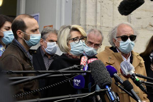 La famille d'Alexia Daval lors du procès de Jonathann Daval en novembre 2020 à Vesoul