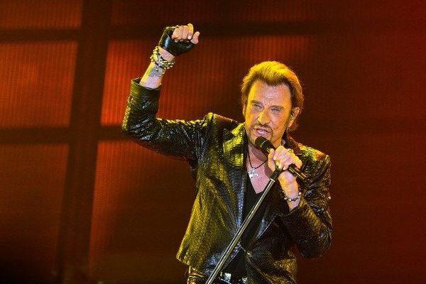Johnny Halliday en concert à Bordeaux le 2 juin 2013