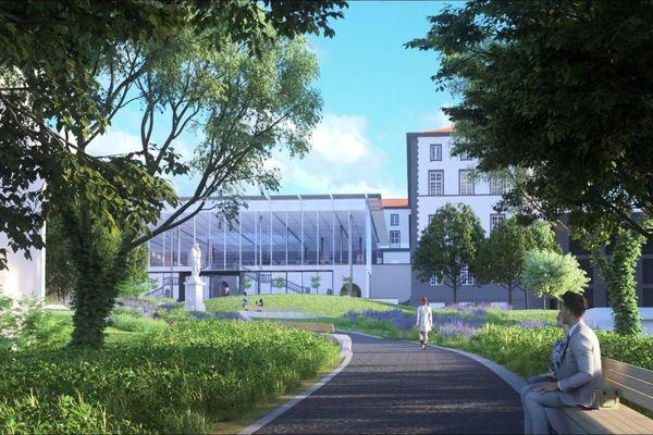 Voici les premières images de la future grande bibliothèque de Clermont-Ferrand.