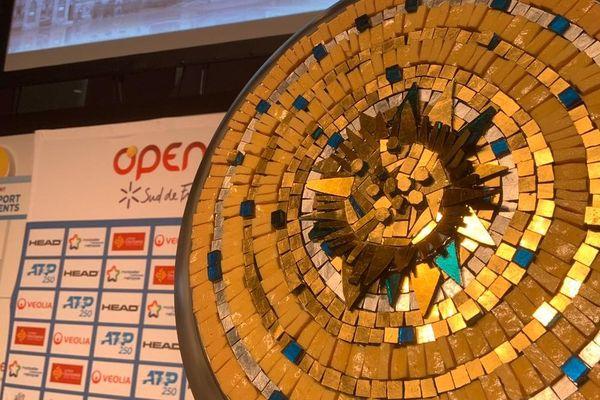 Le trophée 2020 de l'Open sud de France, à Montpellier.