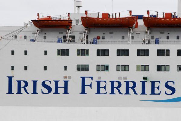 Le ferry est parti de Cherbourg pour rejoindre Rosslare, samedi.