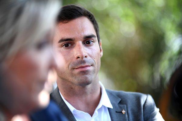 Julien Odoul, lors d'une visite de Marine Le Pen dans l'Yonne en septembre 2020