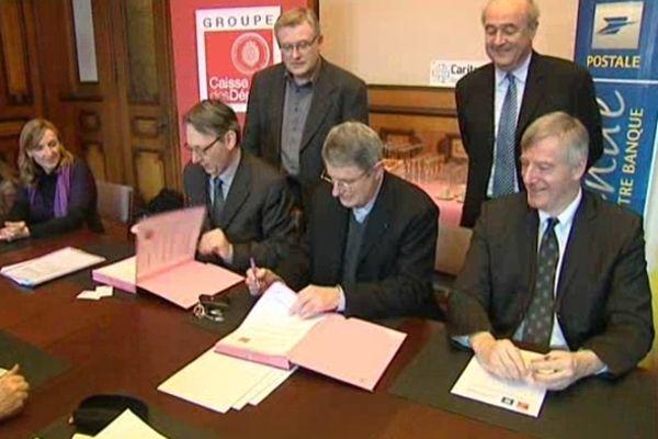 Une convention a été signée lundi à Strasbourg.