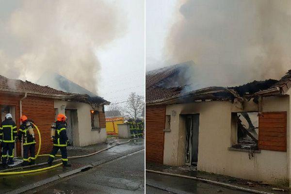 La maison de la rue Ovide a été complètement détruite par les flammes.