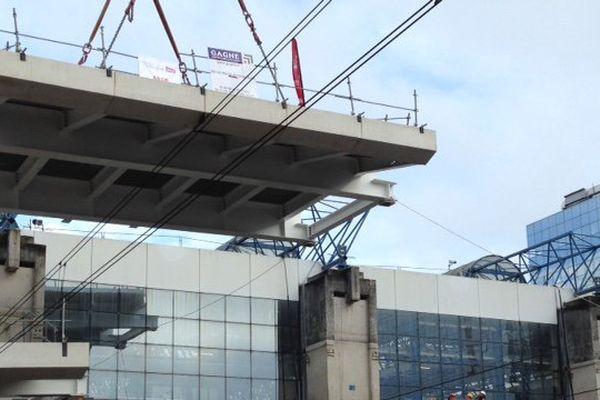Le chantier de la gare de Rennes