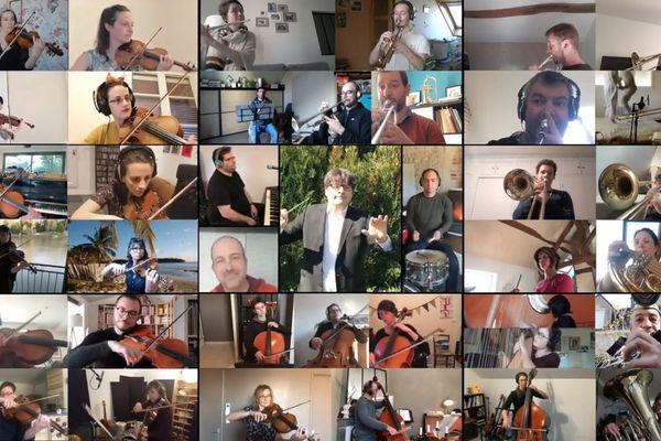 L'Inattendu, ce sont près de 40 musiciens à l'unisson.