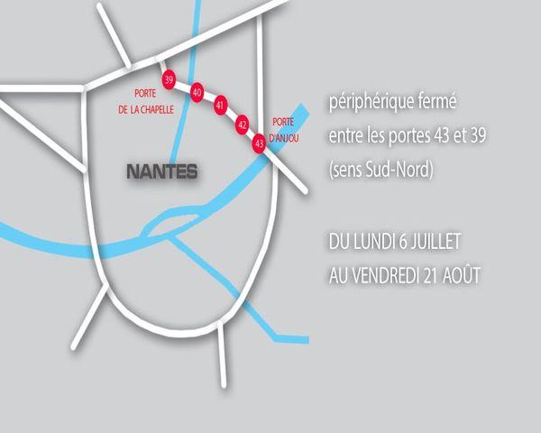 Le périphérique nord-est sera fermé entre les portes d'Anjou et de la Chapelle du 6 juillet au 21 août