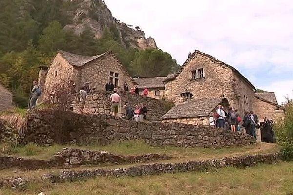 Lozère : le hameau privé de La Croze dans les Gorges du Tarn - septembre 2018.