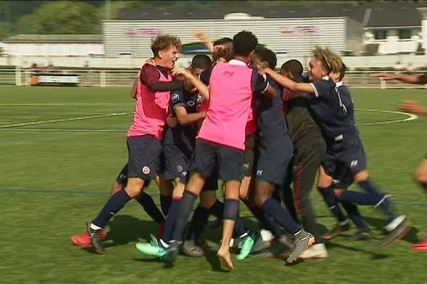 L'équipe de U17 de Reims a vaincu Rennes sur un score de 2-1