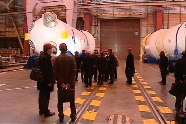 La ministre du Commerce extérieur a visité le site d'Areva, à Saint-Marcel, en Saône-et-Loire.