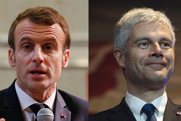 """Alors que Laurent Wauquiez l'accusait de """"voyager dans une bulle"""", Emmanuel Macron se rendait au débat citoyen de Bourg-de-Péage."""