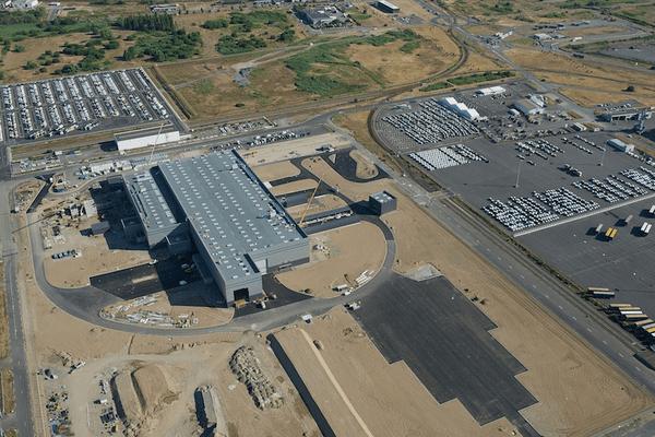 Vue aérienne du nouveau site de Saint-Nazaire