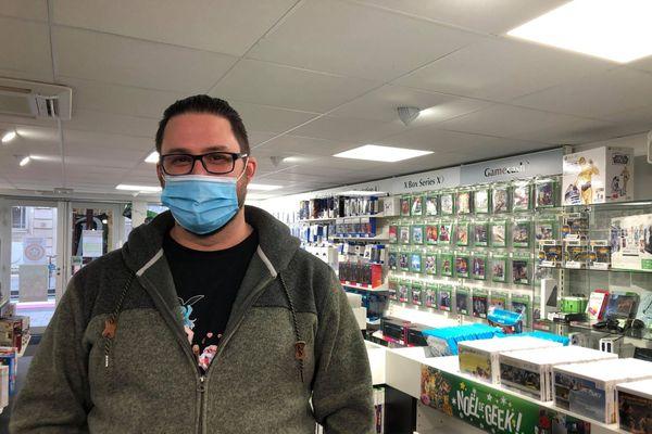 Thierry Bretagna, gérant du magasin Gamecash à Nancy