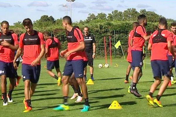 Montpellier - le MHSC à l'entraînement - août 2016.