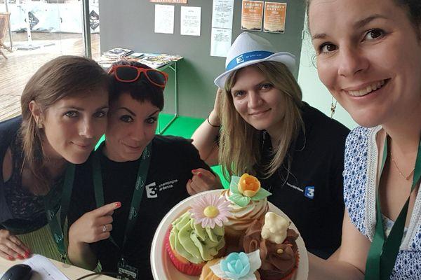 L'équipe web a aussi testé les cup cakes !