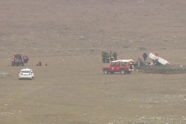 L'avion, avec ses 4 occupants, s'est écrasé au sol sur la commune de Creissels (Aveyron) sur la plateau du Larzac