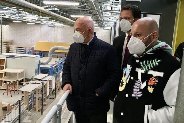 L'homme d'affaires libano-suisse Abdallah Chatila en visite sur le terrain le 11 mai 2020