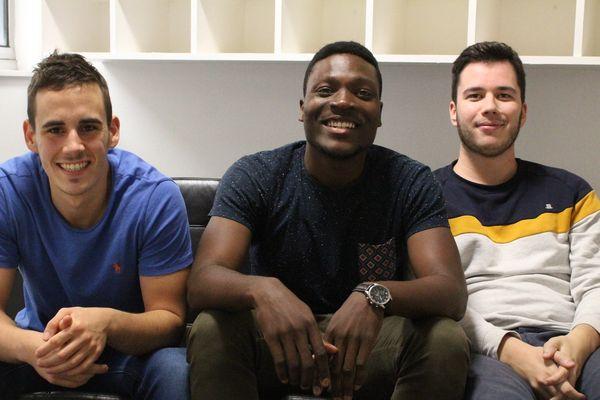 Samuel Blin (gauche), Dorian Tohou et Sébastien Lemeur sont les trois associés de Fiitli, start-up créée en juin 2017.