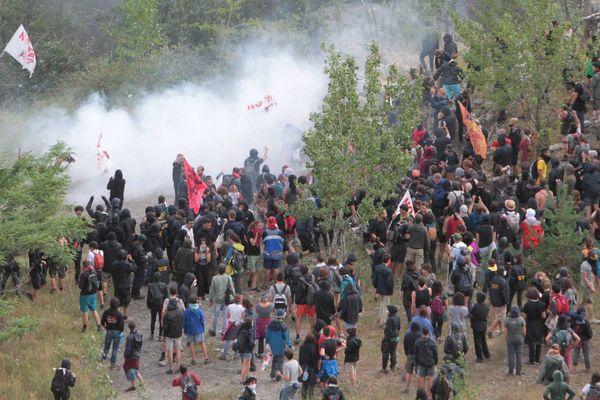 Les opposants à la liaison ferroviaire Lyon-Turin se sont mobilisés fin juillet après le feu vert de Rome.