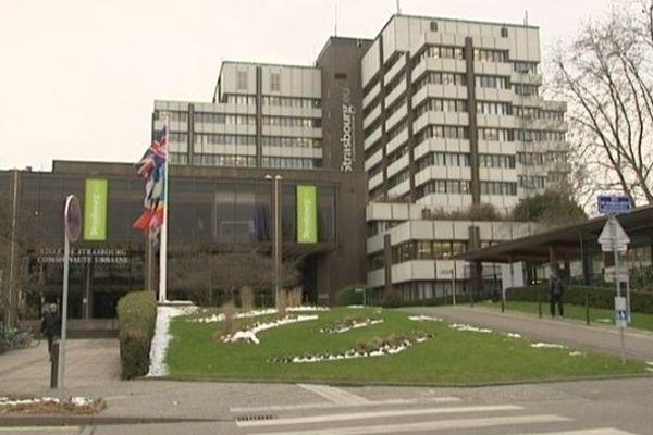 Le siège de la Communauté urbaine de Strasbourg.