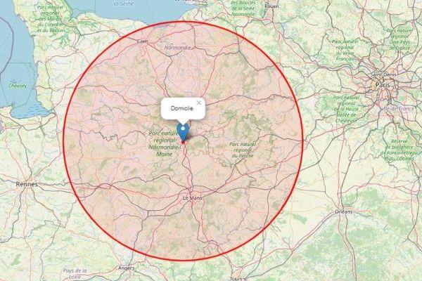 A 100 km d'Alençon, je peux aller ici