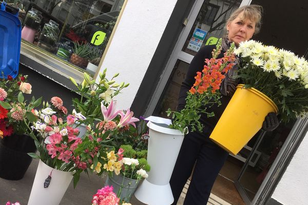 Mireille la fleuriste de Saint-Nazaire, 17 mars 2020