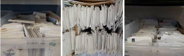 Des stocks de courriers à Epopia