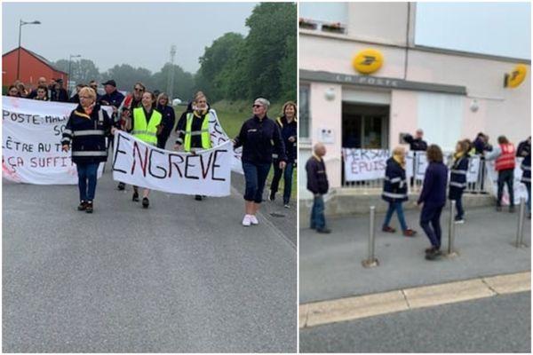 Les grévistes de la Poste ont marché dans Maubert-Fontaine.