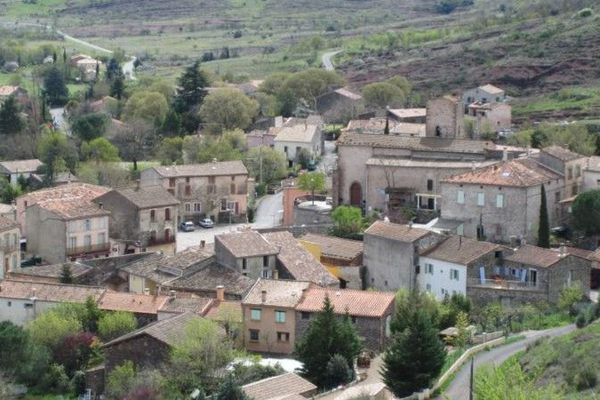 Vue générale d'Octon (Hérault)