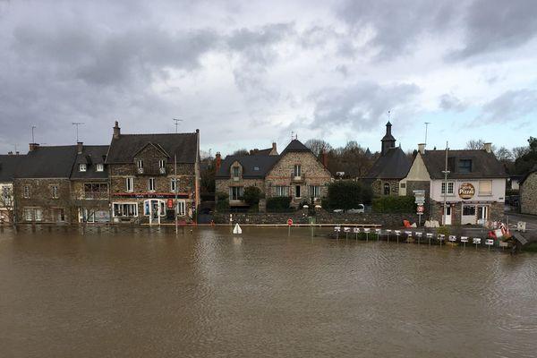La Vilaine a débordé à Guipry-Messac (Ille-et-Vilaine) - 22/12/2019