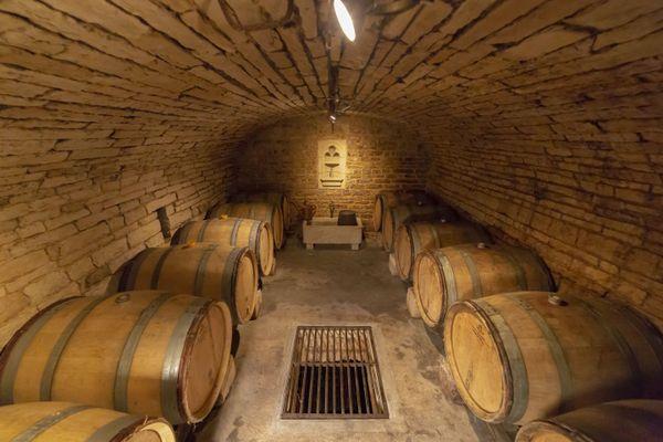 Les caves du Champagne Horiot, aux Riceys.