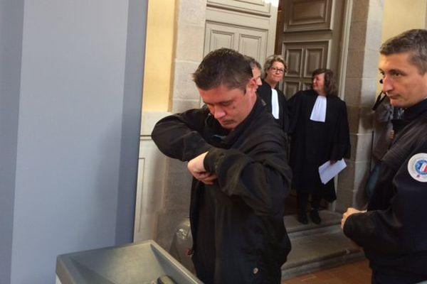 Daniel Legrand fils à son arrivée ce matin au tribunal de Rennes