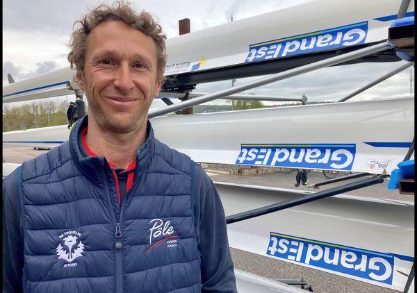"""Maxime Guilhem est l'entraineur de Pierre Houin. """"Pierre avait déjà fait un peu le deuil des Jeux Olympiques""""."""