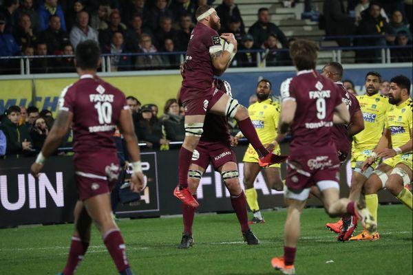 Les joueurs de l'UBB lors de l'un de leurs derniers matchs avant le confinement, c'était 23 févier face à l'ASM Clermont Auvergne.