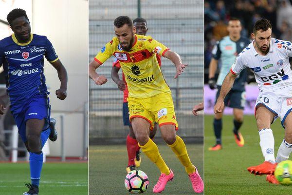 Tameze (à gauche) quitte Valenciennes, Guezoui (au centre) et Dos Santos (à droite) arrivent