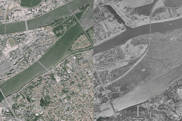 L'ïle de Nantes et Saint-Sébastien sur Loire, et leur évolution entre 1960 et aujourd'hui