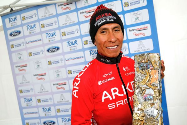 16/02/2020. Nairo Quintana, vainqueur du Tour de la Provence.