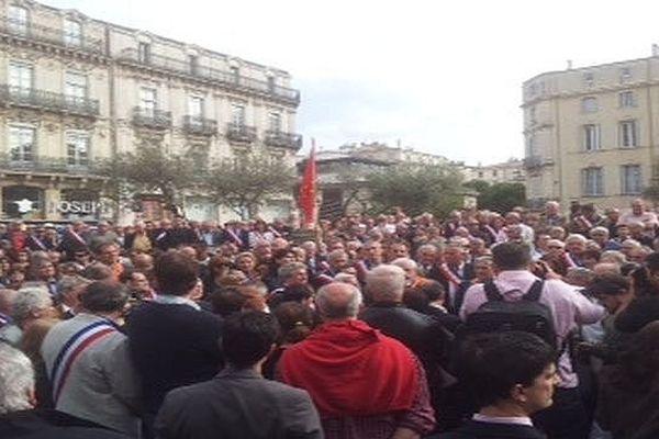 Manifestation à Montpellier contre la réforme territoriale