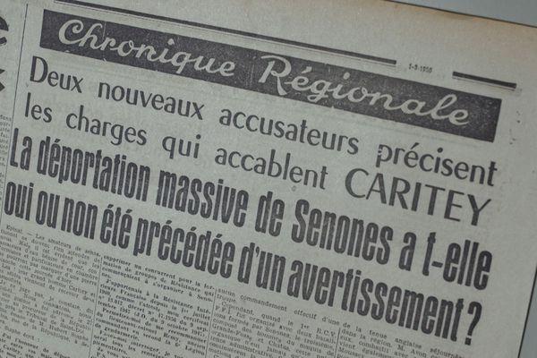 """Un homme considéré comme le chef de la Résistance locale a été accusé du meurtre de trois personnes """"des collabos présumées"""", et de déportation massive à l'automne 1945 dans les Vosges."""