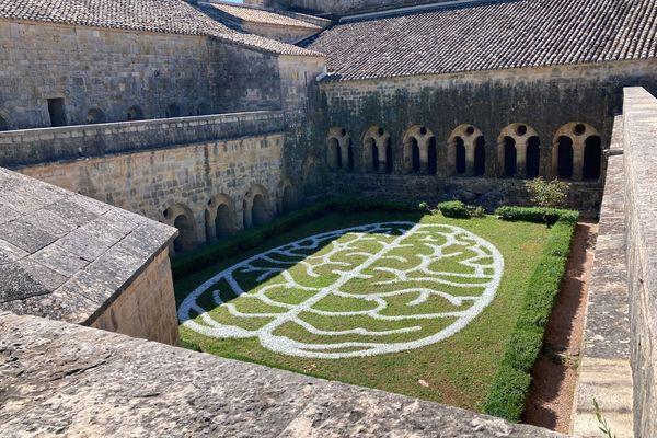 """""""Anima mundi"""", l'âme du monde, dans le cloître de l'abbaye du Thoronet jusqu'au 19 septembre 2021."""