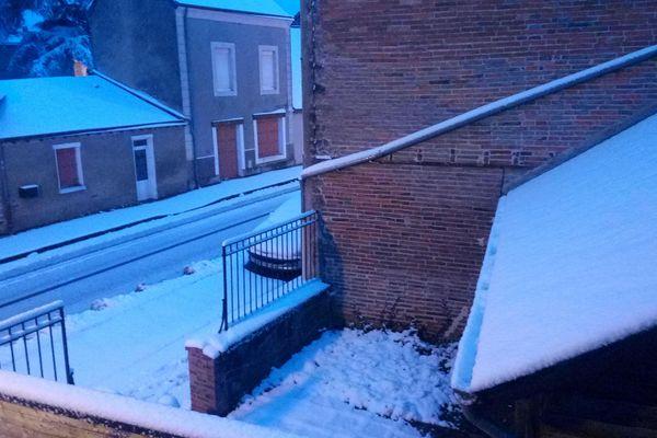 Neige à Brulon en Sarthe le mercredi 7 février 2018