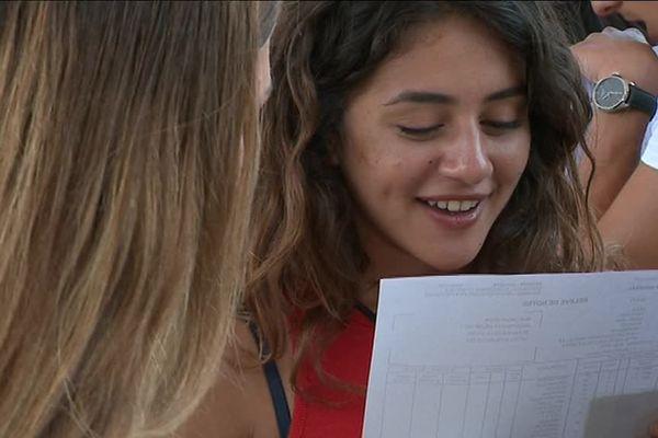 Dans l'académie de Montpellier, près de 80 % des candidats au bac général l'ont obtenu au 1er groupe. Ici, une candidate à Castelnau-le-lez (Hérault).